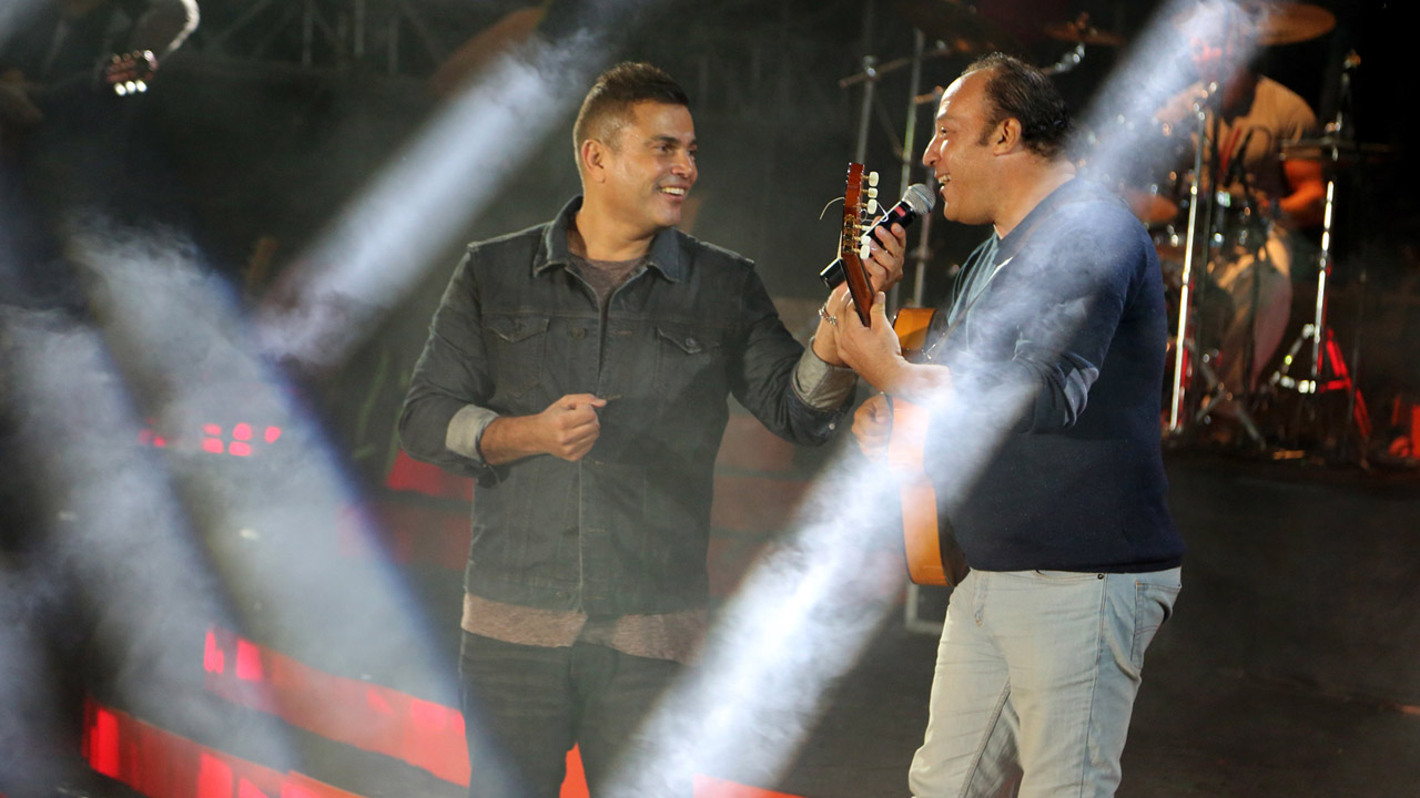 Amr Diab performs in Emirates heights
