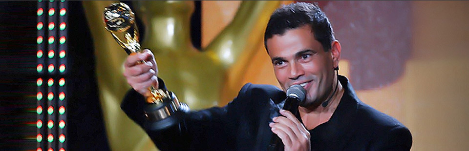 Amr Diab during WMA ceremony